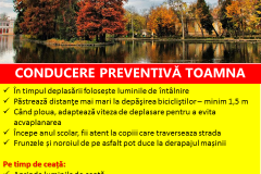 Conducre preventiva toamna Safety Romania