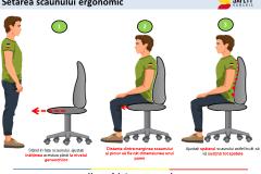 Setare scaun birou - Safety Romania